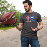 RVB HELMETS DISTRESSED LOGO SHIRTS
