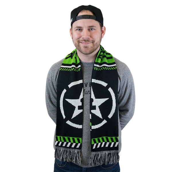 DOUBLE SIDED ACHIEVEMENT HUNTER SOCCER SCARF