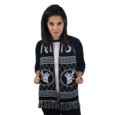 DOUBLE SIDED COW CHOP SOCCER SCARF