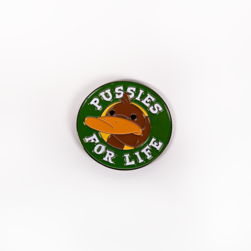 CAMP CAMP PUSSIES PIN
