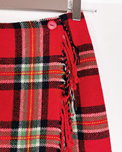 Load image into Gallery viewer, Jupe tartan à franges taille 36
