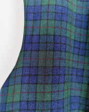 Load image into Gallery viewer, Gilet de costume en laine à carreaux tartan