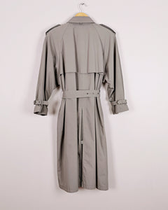 Trench coat oversize gris pale