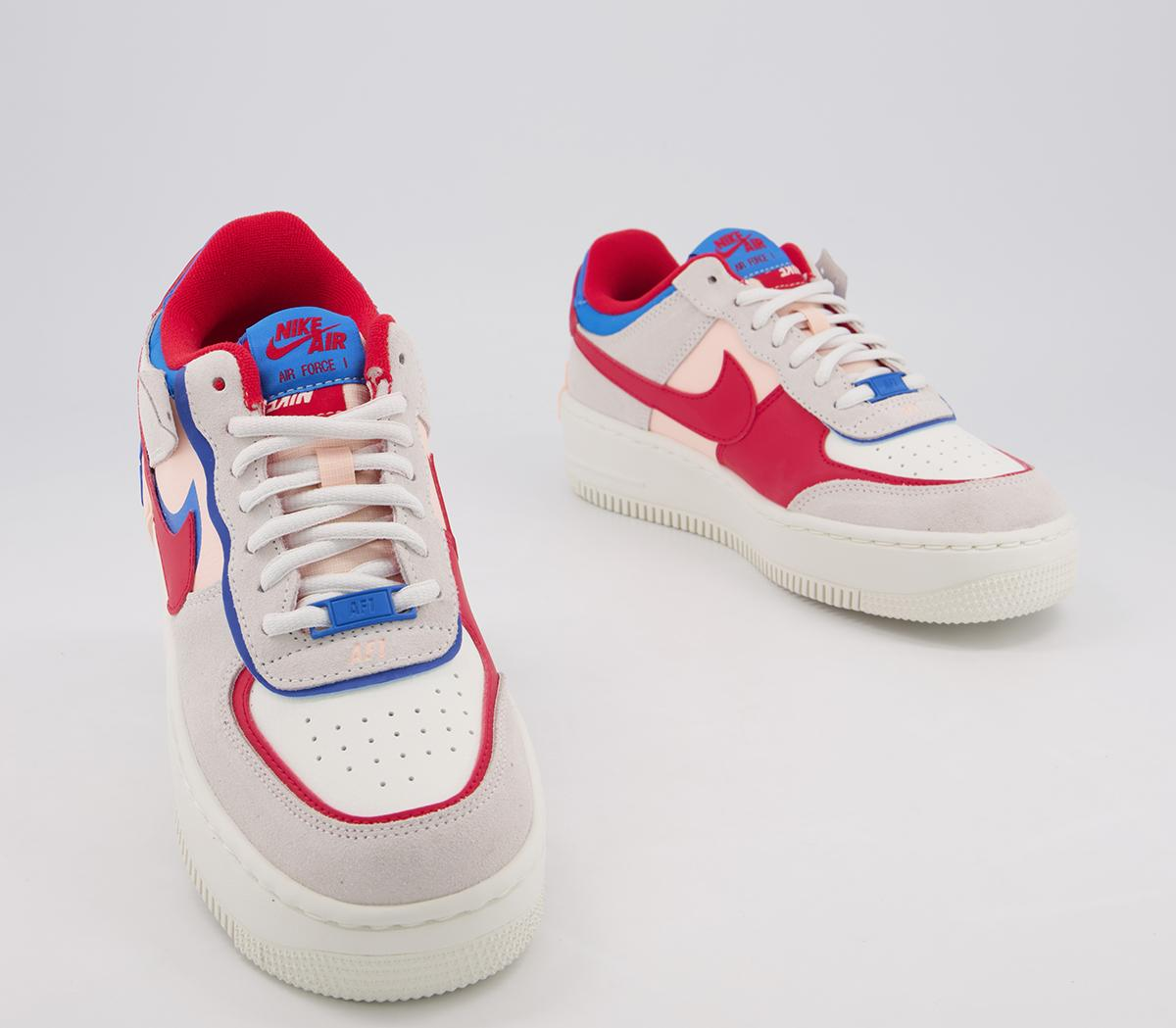Nike Air Force 1 Shadow Sail University Red Photo Blue Womens Project Sneakers Кроссовки nike air force 1 betrue. project sneakers project sneakers project sneakers
