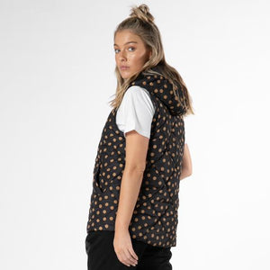 Load image into Gallery viewer, Tilda Puffer Vest - Amber Dot