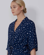 Sara Top - Navy White Dot