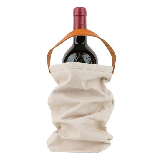 Load image into Gallery viewer, Paper Wine Bag - Cashmere + Wine Cooler Bag Insert