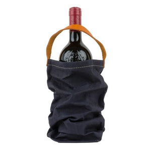 Load image into Gallery viewer, Paper Wine Bag - Dark Blue + Wine Cooler Bag Insert