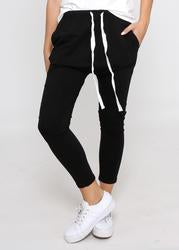 Draw String Slouch pant black