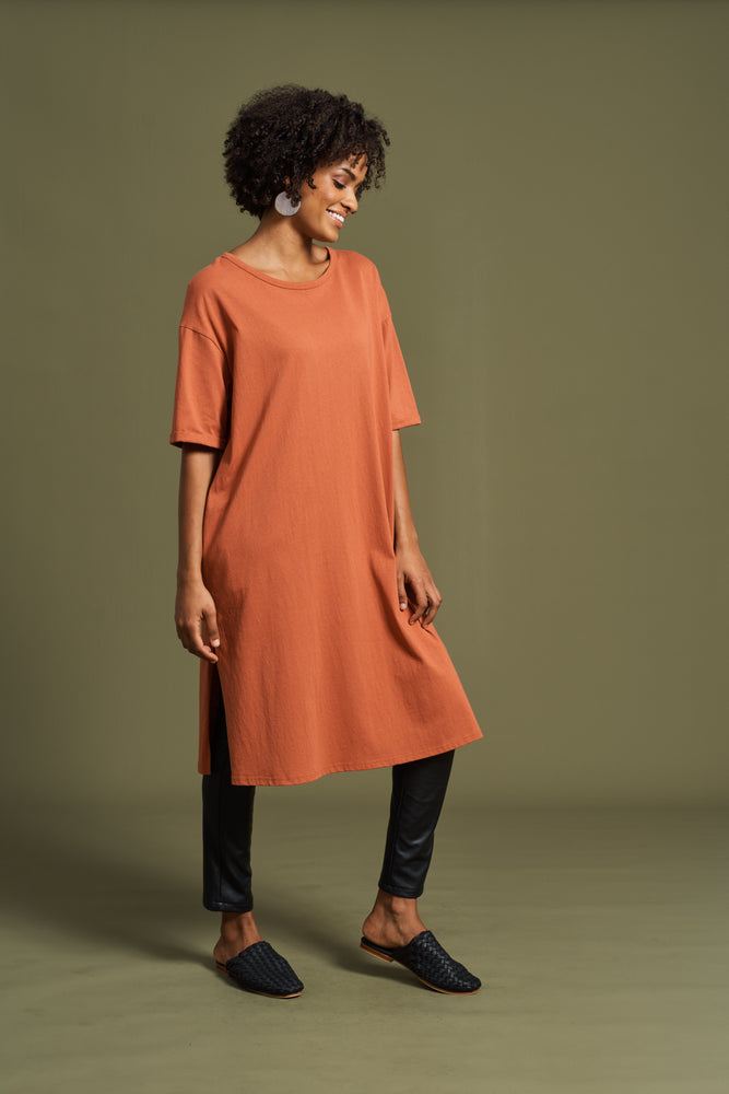 Load image into Gallery viewer, Rosa Tank Dress - Terracotta