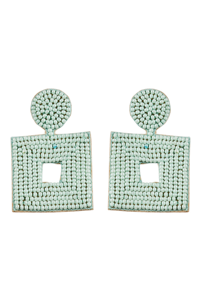 Society Stone Bead Earring Mint