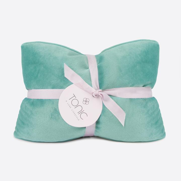 Load image into Gallery viewer, Luxe Velvet Heat Pillow- Seafoam
