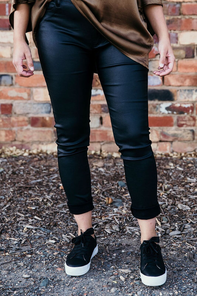 Wax Denim Skinny Jean