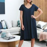A-Line Dress in Navy
