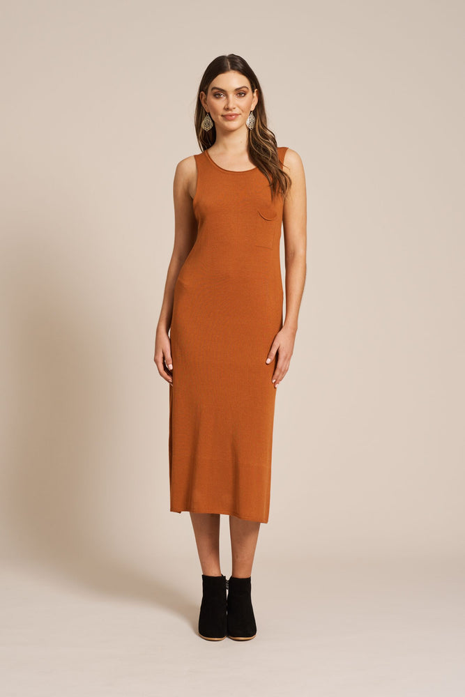 Maya Knit Dress - Terracotta