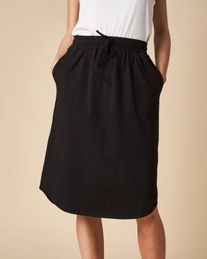 Load image into Gallery viewer, Elastic Waist Skirt - Black