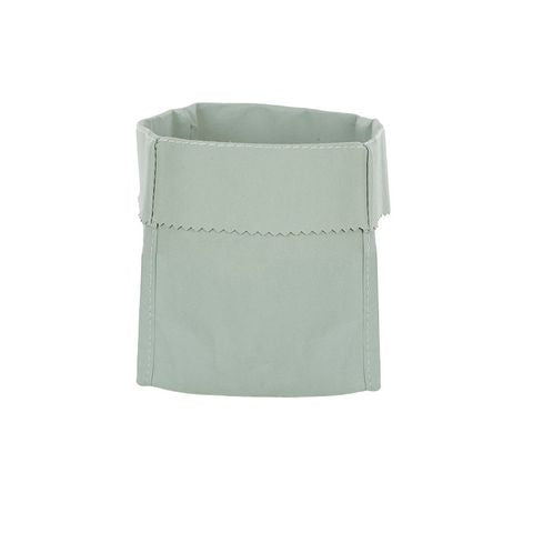 Washed Paper Square Storage - Green