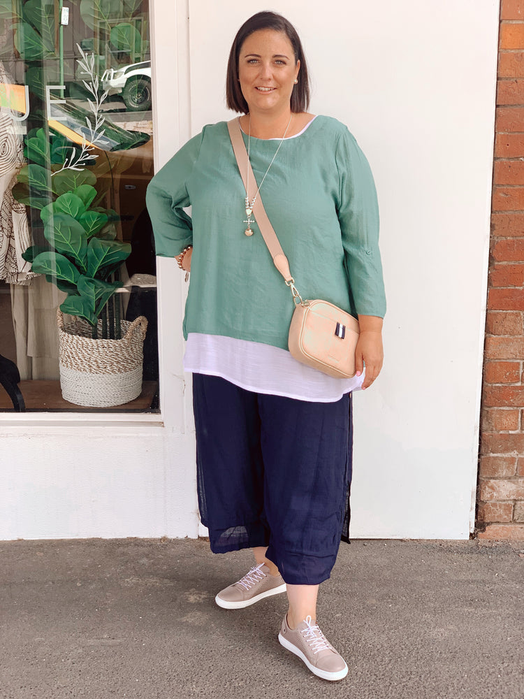 2 in 1 top - plus size - Green