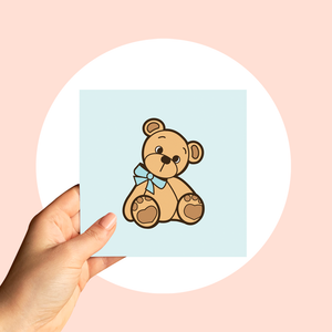 Blue Teddy Card