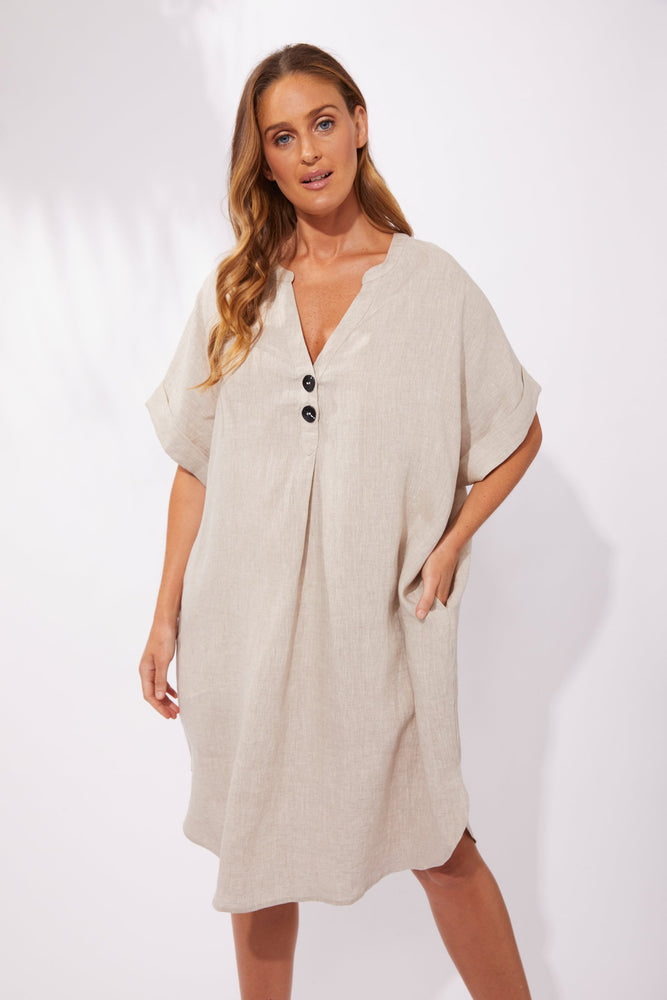 Load image into Gallery viewer, Majorca Shirt Dress - Sand