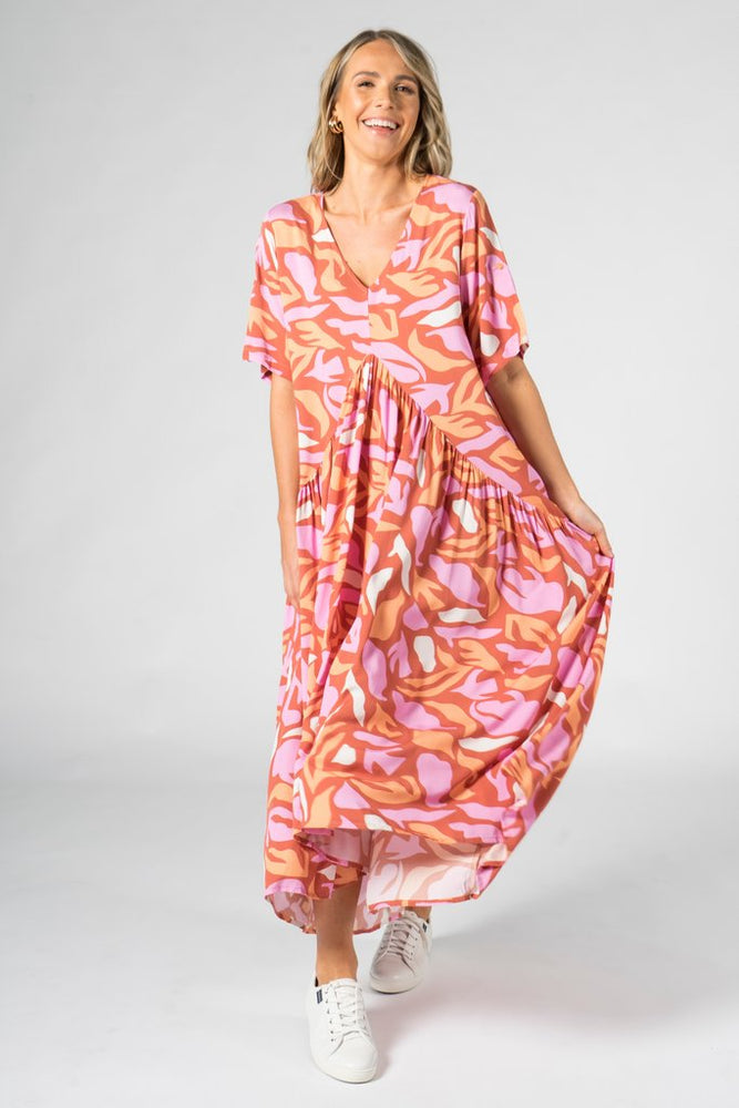 Peak Maxi Dress - Coral Reef