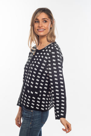 The Fran Zip Up Check Cardi