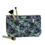 Large Cosmetic Bag- Flourish Blue