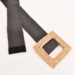 Timber Square Buckle Braid Belt