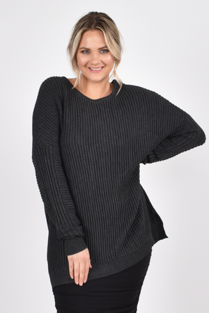 Away Knit Charcoal - One Size