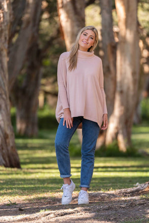 Load image into Gallery viewer, Roll Neck Jumper - Light Pink