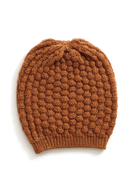 Bellamy Merino Wool Beanie  - Brass