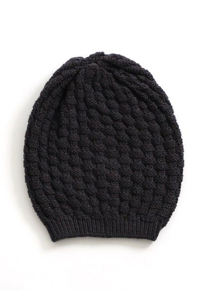 Bellamy Merino Wool Beanie - Blackcurrant