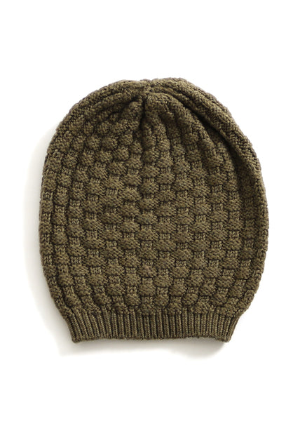 Load image into Gallery viewer, Bellamy Merino Wool Beanie - Olive