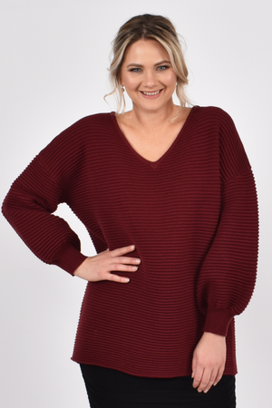 Billow Knit Burgandy - One Size