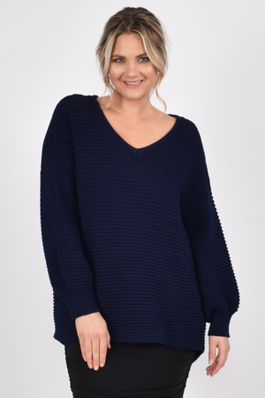 Billow KnitFrench Navy - One Size