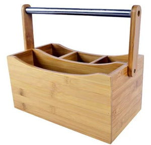 4 Section Bamboo House Caddy