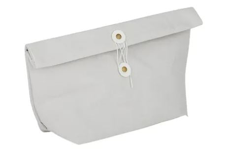 Load image into Gallery viewer, Washed Paper Snack Bag - Grey