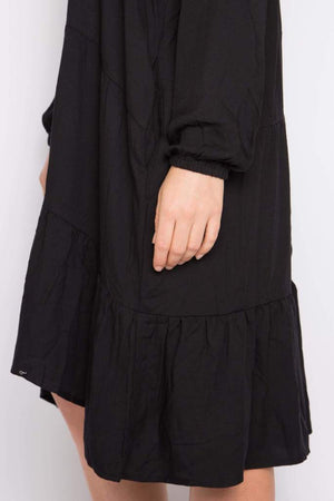 Long Sleeve Chic Dress - Black