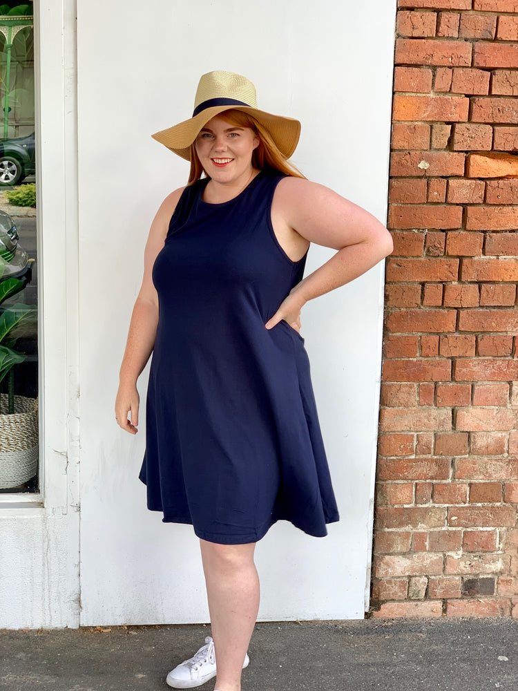Load image into Gallery viewer, Tank Swing Dress - Navy