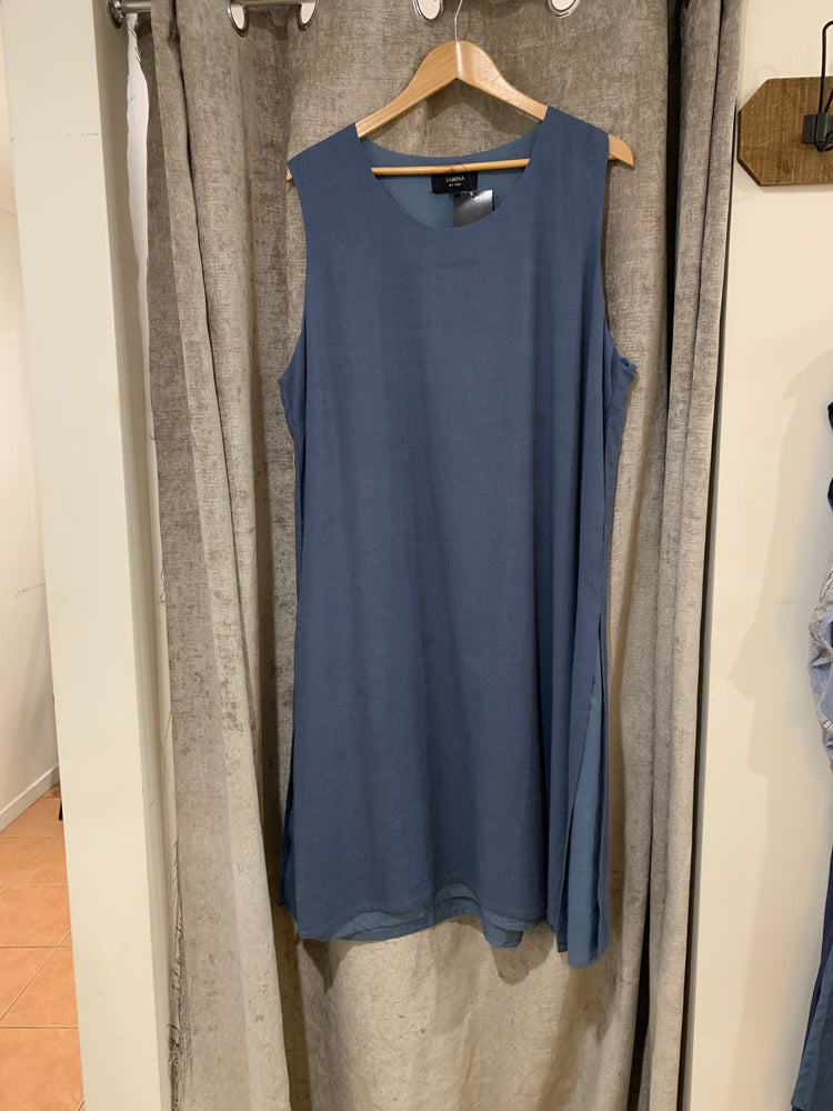 Tabard Side Split Dress - Denim