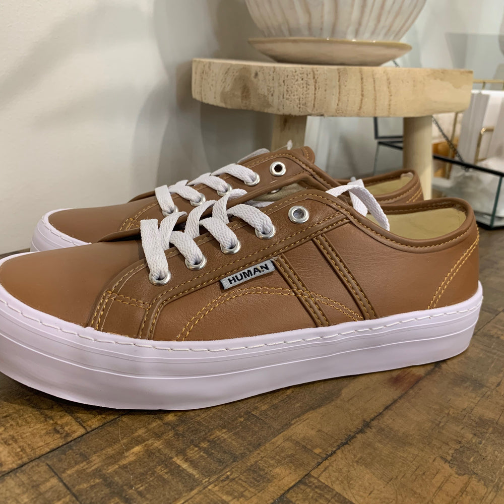 The Cass Leather Sneaker - Tan