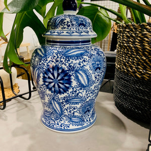 Load image into Gallery viewer, Blue Ginger Jar - Large