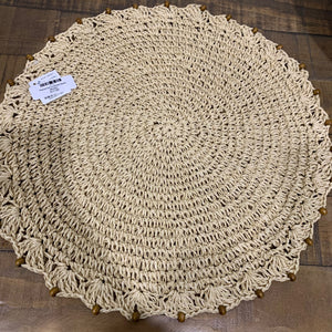 Placemat Crotchet Bead Natural