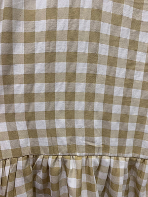 Lily Beige Gingham Dress