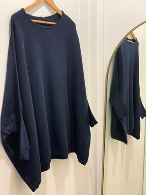 Mia Oversized Jumper- Navy