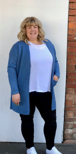 Edge to Edge Long Cardi - Denim