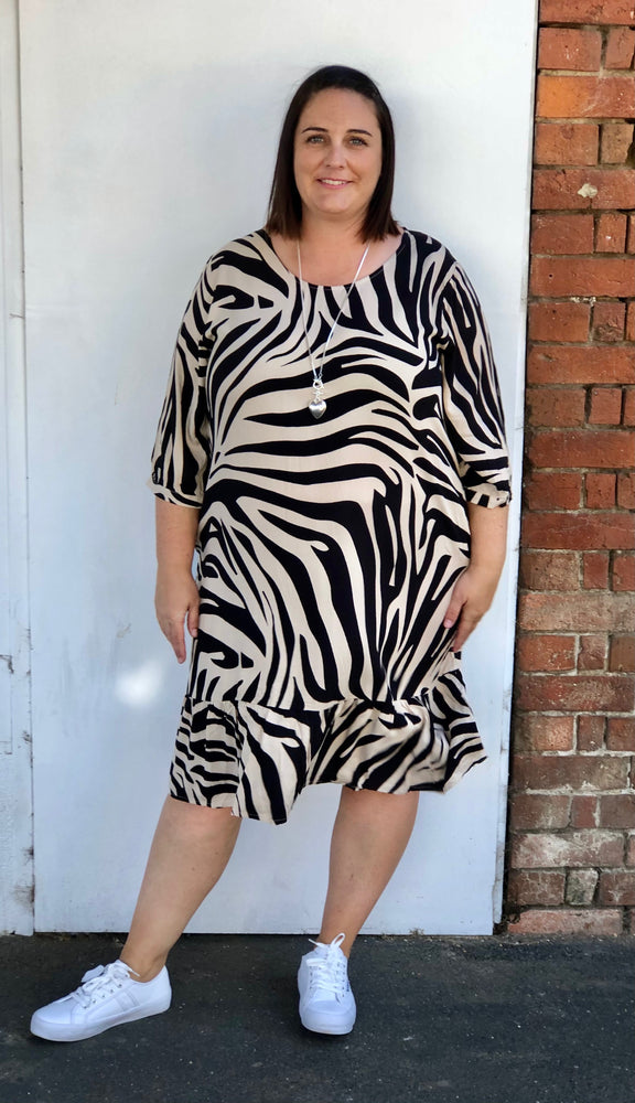 Flare Dress in Zebra