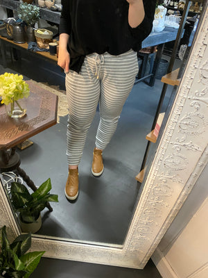 Load image into Gallery viewer, Mia Winter Trackies - Grey Stripe