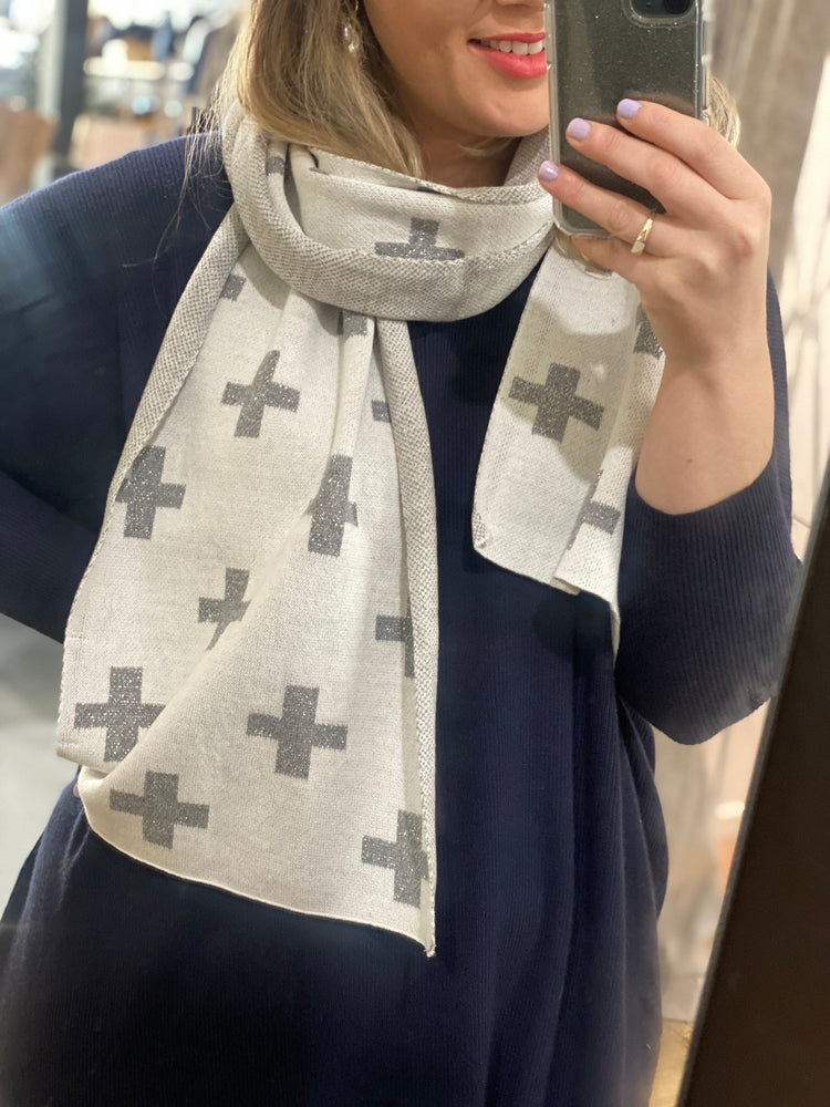 Silver Cross Scarf