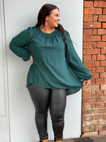 The Poppy Top - Teal